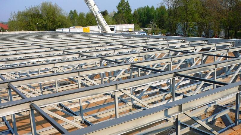 Poważne Konstrukcja stalowa dachu sali bankietowej - Promostal MQ57