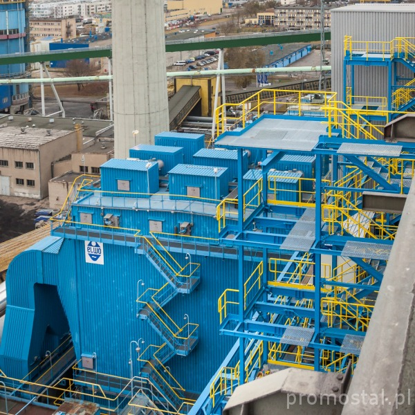 Flue gas denitrification plant